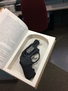 gun in book
