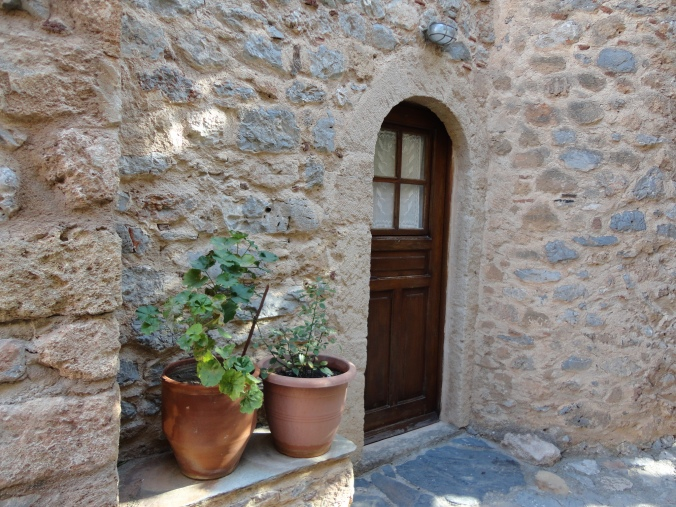 The door to our hotel room in Monemvasia. Are you dying yet?