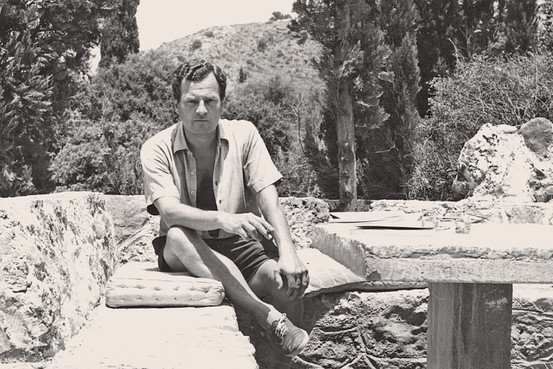 Paddy Leigh at his house in Kardimyli.