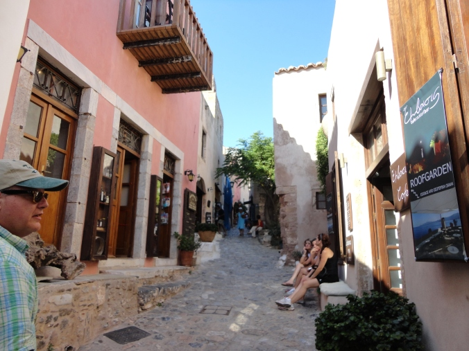 The medieval streets of Monemvasia.