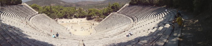 The famous theater at Epidaurus (Epidavros).