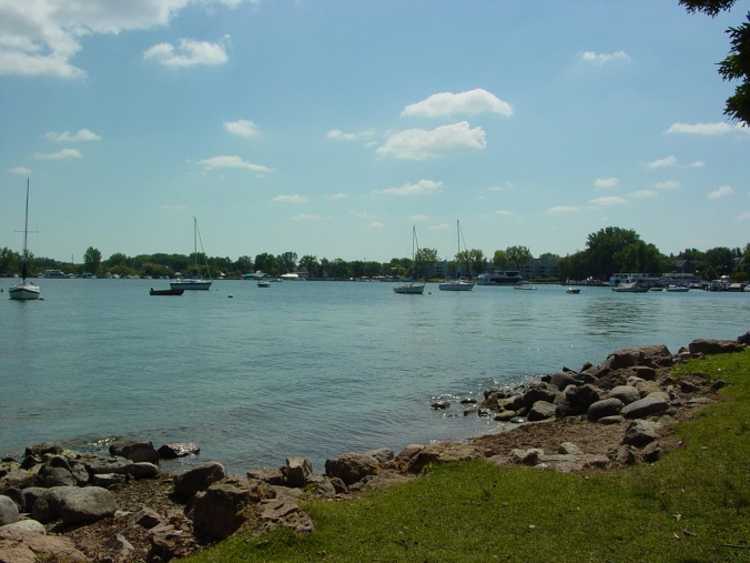 The view of Lake Minnetonka from Excelsior Commons.