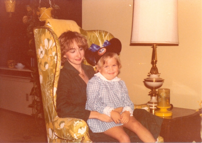 Mom and me at about 4 years old