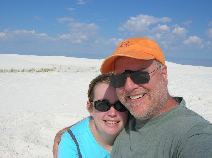 The two of us at White Sands National Monument