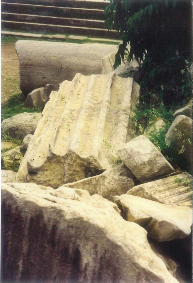 A pile of toppled columns