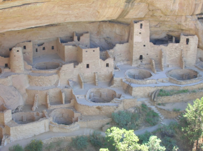 Cliff Palace--the largest of the cliff dwellings at Mesa Verde.