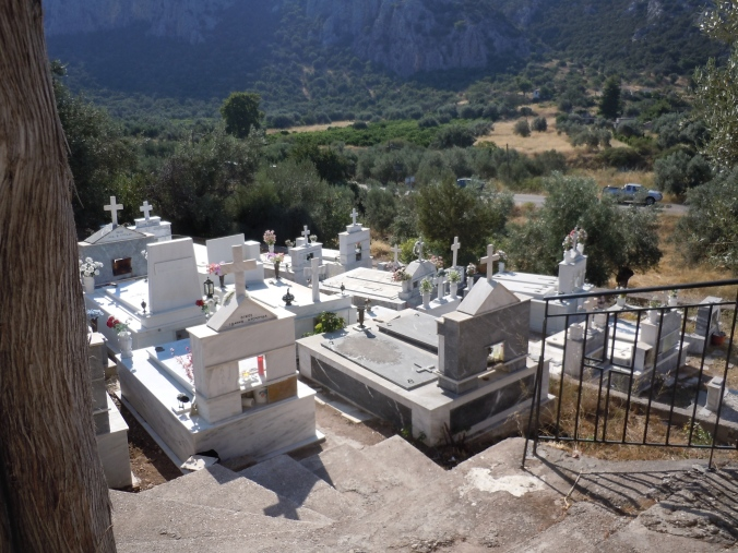 The cemetery next to the church--full of Kosta's ancestors.
