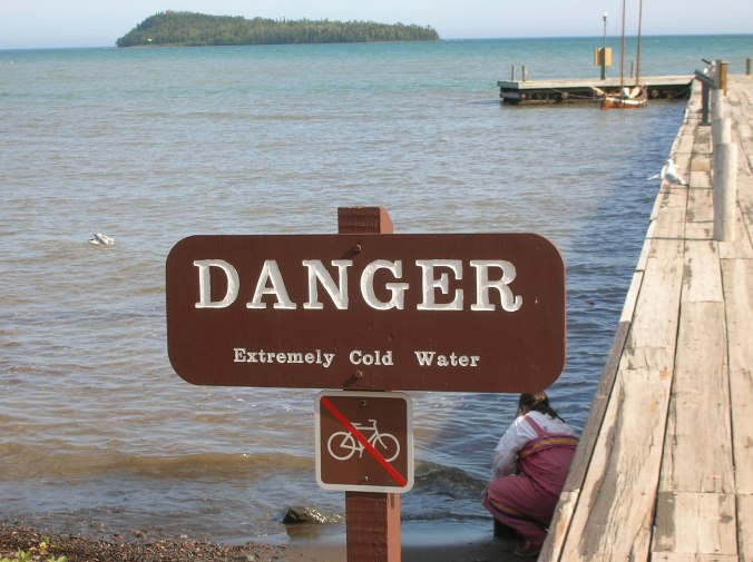 They aren't kidding. Lake Superior maybe warms up to 40 degrees F in the height of summer.