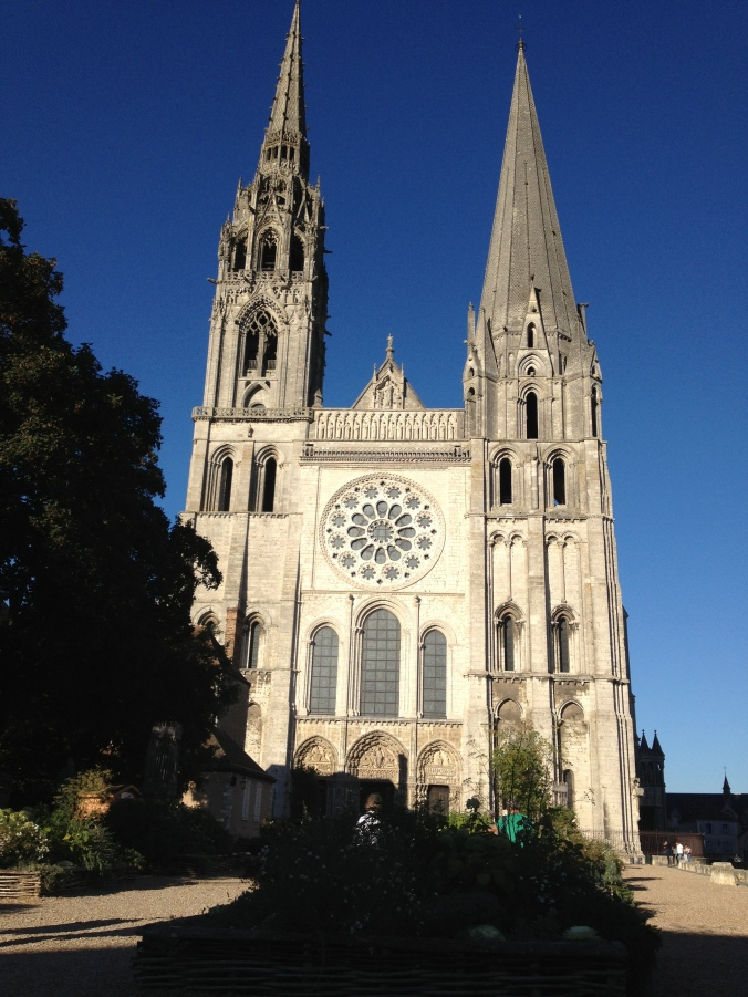 The western facade of Chartres cathedral