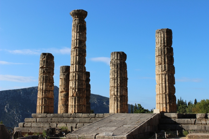 The ruins of the Temple of Apollo