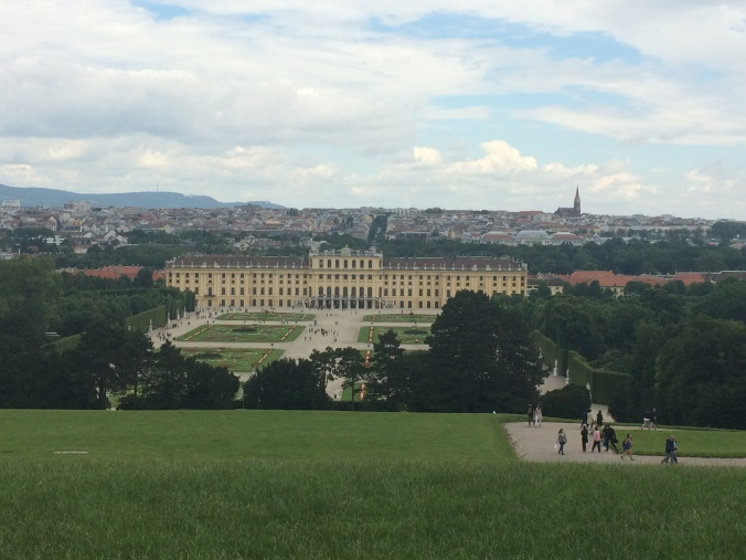 Schonnbrun Palace and all of Vienna at our feet.