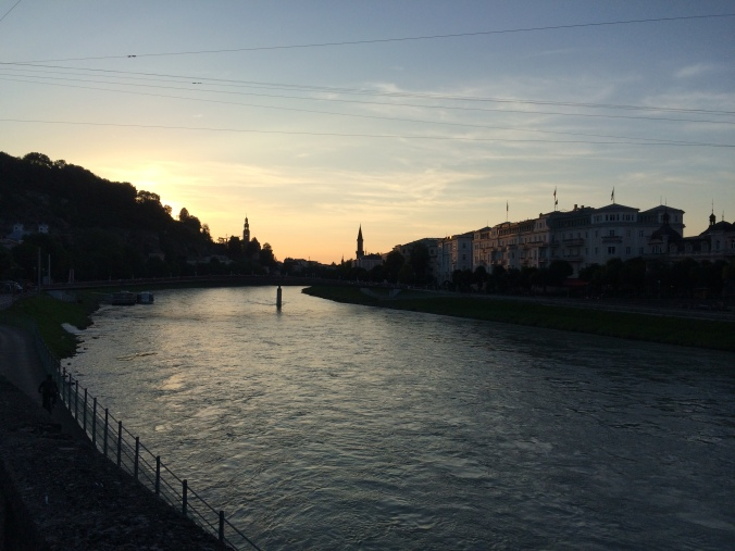 Sunset on the Salzach.