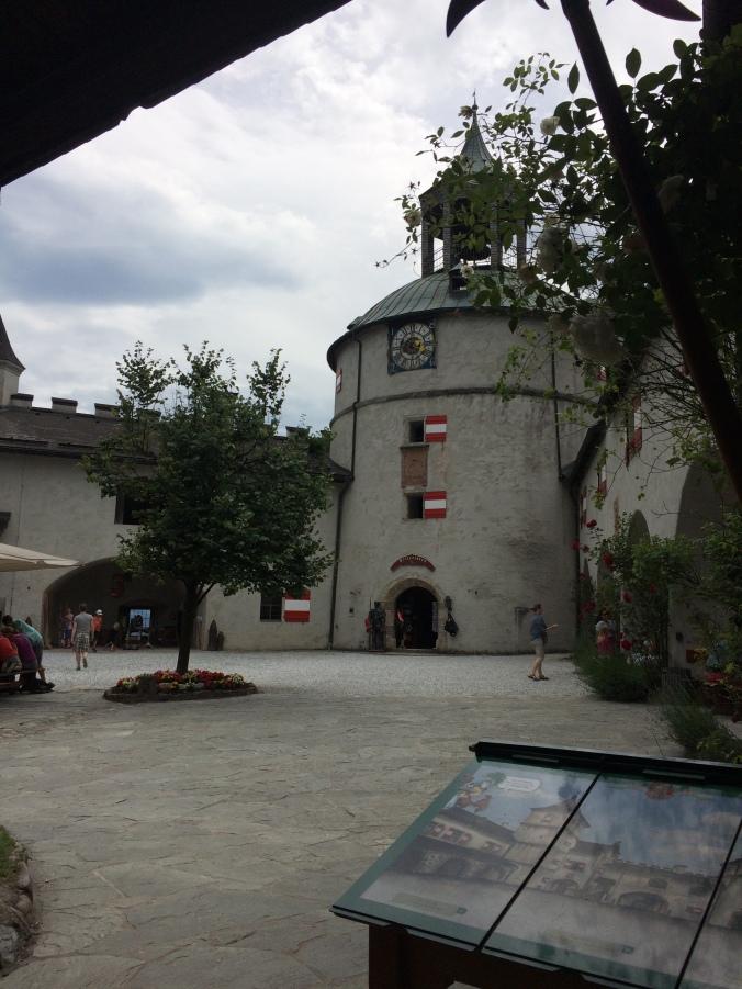 Inner courtyard of Burg Hohenwerfen