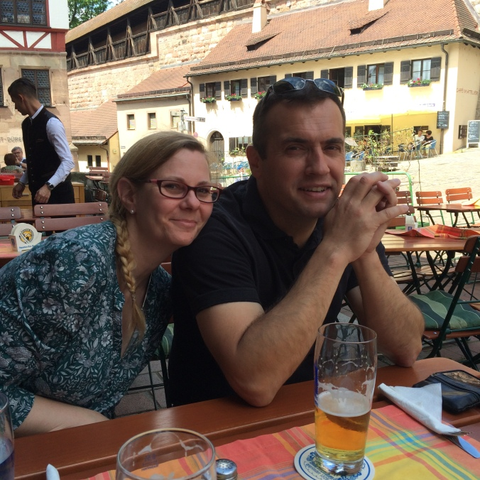 Our hosts, Danielle and Sylvain in Nuremburg.