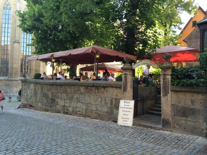 The garden restaurant.