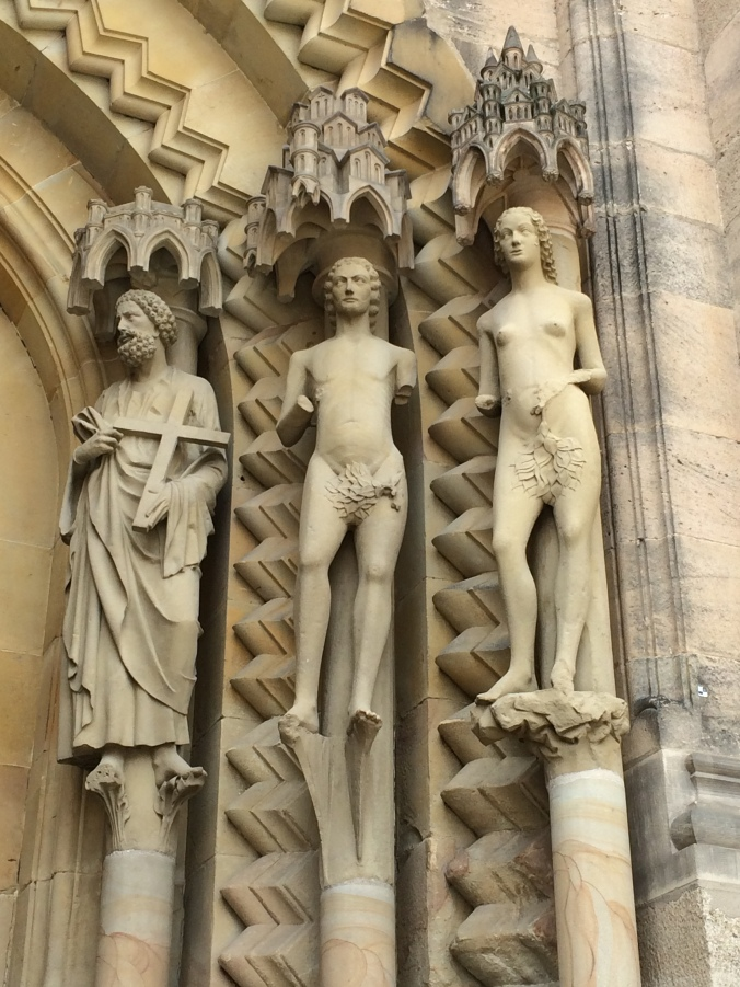 The Adam and Eve portal sculptures were also rare and interesting.