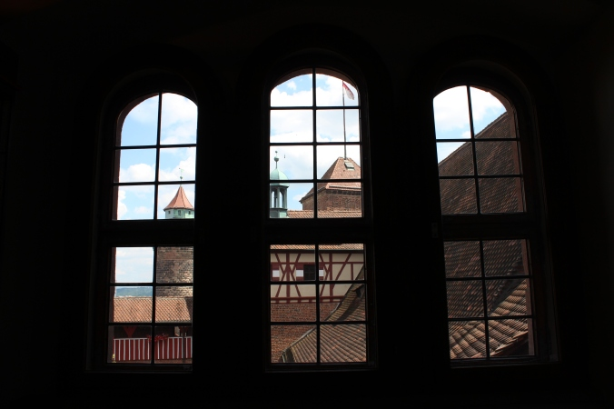 View from inside the fortified palace on the hill.