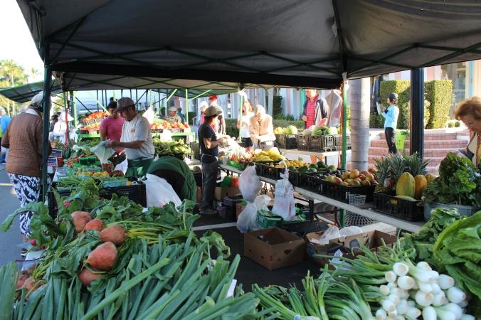 Buying veggies.